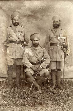 Three Indian officers