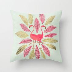 Flamingos – Pink & Gold Throw Pillow by Cat Coquillette | Society6 , Myorganicsleep is an Organic Bedding online store. We are proud to supply to customers the best quality and cheap bedding sets ☻ ☻  ✿. ✿