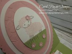 I'm looking forward to some time tomorrow to STAMP! Today's card is. Easter Lamb, Easel Cards, My Stamp, Cute Cards, Easter Crafts, Stamping, Card Making, Girly, Spring Summer