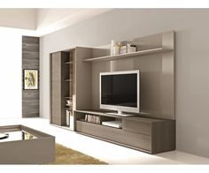 J & M Furniture Composition 221 Entertainment Wall System | Entertainment Centers