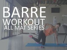 Barre Workout with Exercise Ball - Victoria Secret Workout to get you Long and Lean - YouTube