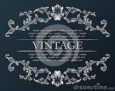 Vector vintage frame. Royal retro ornament decor black