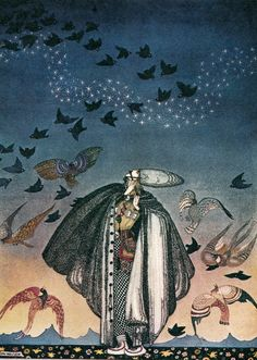 """Kay Nielsen, illustration from """"East of the Sun, West of the Moon"""""""