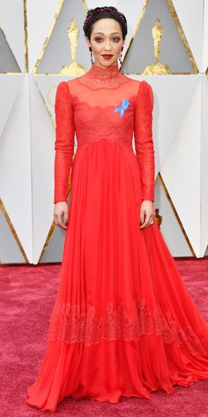Here Are Our Top 10 Best Dressed Women at the Oscars - Ruth Negga in Valentino Haute Couture from InStyle.com