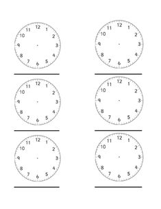 blank digital clock worksheets back to school pinterest clock faces blank clock and clock. Black Bedroom Furniture Sets. Home Design Ideas