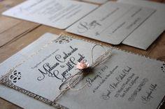 Rustic Burlap Wedding Invitation Suite by RusticEleganceDesign, $3.50
