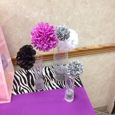 Super cute, non-pink theme:  Zebra with purple