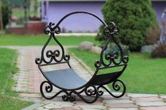Wood Rack, Outdoor Furniture, Outdoor Decor, Blacksmithing, Metal, Firewood, Bench, Home Decor, Ideas
