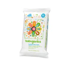 flushable wipes, fragrance free | babyganics | For solids poop. Stuff wipes in poopy diaper, then flush after spraying diaper in toilet.