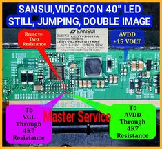 Sony Led Tv, Computer Maintenance, Power Supply Circuit, Double Image, Lcd Television, Electronic Circuit Projects, Tv Panel, Tv Services, Laptop Repair
