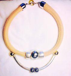 Είδατε το καινούργιο μας κολιέ απο χοντρο σχοινί με μεταλλικά στοιχεία;;;!!! / Have u checked out yet the brand new rope necklace with metal details on???!!! Shop Online @ www.etsy.com/shop/thefthing