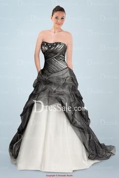 2016 New White and Black Wedding Dresses Strapless Sleeveless Applique Beaded Ruffles Tulle Princess Bridal Gowns GL _ {categoryName} - AliExpress Mobile Version - Colored Wedding Dresses, Bridal Dresses, Wedding Gowns, Bridesmaid Dresses, Tulle Wedding, Prom Dress, Organza Bridal, 2017 Wedding, Backless Wedding
