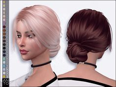 Sims 4 Hairs ~ The Sims Resource: Maggie Hair by Anto - Cabello Rubio Sims Four, Sims 4 Mods Clothes, Sims 4 Clothing, The Sims 4 Cabelos, Pelo Sims, Sims 4 Cc Packs, Sims4 Clothes, Sims 4 Toddler, Messy Hairstyles