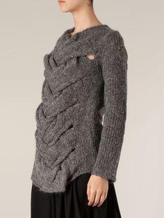 Comme Des Garçons Plaited Front Sweater - L'eclaireur - Farfetch.com