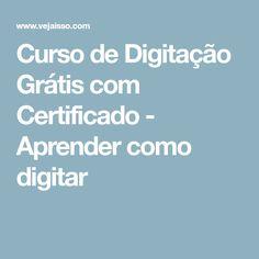Curso de Digitação Grátis com Certificado - Aprender como digitar