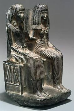 size: Photographic Print: Statue of an Ancient Egyptian Official and His Wife, Century Bc : Artists Cats In Ancient Egypt, Ancient Egyptian Art, Ancient Aliens, Ancient History, Egyptian Things, Egyptian Queen, Red White And Boom, Egyptian Mythology, Ancient Artifacts