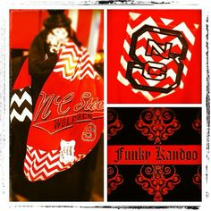 NC State University Vintage T-shirt Scarf by Funkykandoo! Find us on Instagram and Facebook!