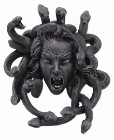 GORGON SERPENT SEDUCTRESS MEDUSA WALL PLAQUE STATUE.SPOOKY OLD MANSION