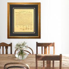 Declaration of Independence Custom Framed Document