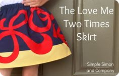 the love two times skirt tutorial