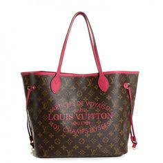 See more detail about LOUIS VUITTON Monogram Ikat Neverfull MM Indian Rose..