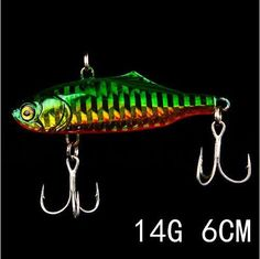 9 colors 14g 6.5cm 1pcs winter fishing lure hard bait VIB with lead inside ice sea fishing tackle diving swivel jig wobbler lure