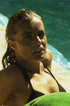 """Age 30 Romy Schneider. I want to scream, """"Slap on the sunscreen and stop smoking!"""""""