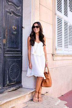 White dress in St. Tropez