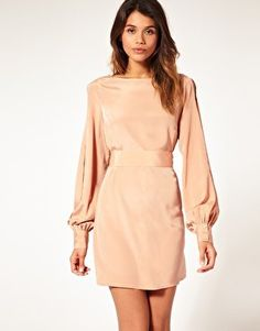 ASOS | ASOS Slit Sleeve Dress with Cut Out Back at ASOS