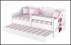 Disney children's bed Minnie Paris – Kiddymill Minnie Mouse Bedding, Magical Room, Childrens Desk, Mattress Frame, Bed With Drawers, How To Make Bed, Kid Beds, Cot, Kids Bedroom
