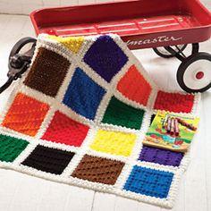 Ravelry: Crayon-Box Blanket pattern by Bendy Carter