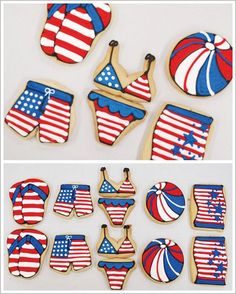 4th of July Cookies by Bundle of Cookies  |  http://TheCakeBlog.com