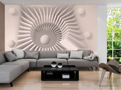 """impressive and effectively eye-catching this large wallpaper mural """" Sand chamber """" looks fantastic up and will transform your Room into something fabulous! This wallpaper mural will give off the wow factor in any room or workplace. 3d Wall Decor, 3d Wall Murals, Mural Art, 3d Wallpaper For Walls, Photo Wallpaper, Crazy Wallpaper, Pattern Wallpaper, 3d Camera, 3d Modelle"""