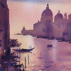 Venice at dusk #venice #veniceart #watercolour #australianartist #watercolour