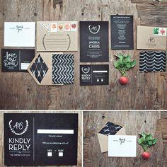 Invitaciones de boda de color negro