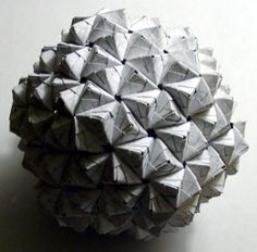 The Epcot Ball - modular origami Origami And Math, Origami Cube, Modular Origami, Fun Crafts, Arts And Crafts, Paper Crafts, Geometric Construction, Origami Videos, Origami Decoration