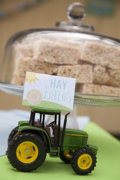 Hay Bales at kids farm tractor or barnyard party