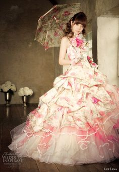 L et Lena photo shoot featuring Fuji Lena color wedding dress