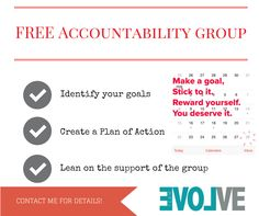 FREE Accountability group to make you stay motivated and accountable on your health/fitness journey!