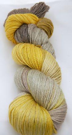 Merino and tencel yarn by Juno Fibre Arts!