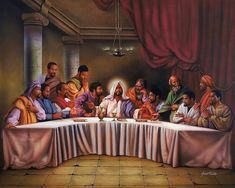 """Learn more about our best selling Last Supper art prints. This one is entitled """"The Last Supper"""" by Aaron and Alan Hicks. African American Art, African Art, Last Supper Art, Blacks In The Bible, Art Amour, Arte Hip Hop, Black Jesus, Black Art Pictures, Black Love Art"""