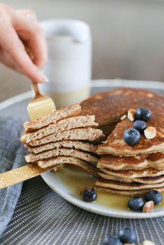 whole grain and almond pulp pancakes recipe   Pamela Salzman & Recipes