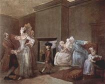 The Staymaker William Hogarth Pinturas