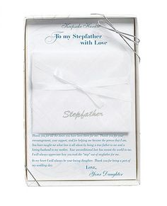 From the Bride to her Stepfather Wedding Handkerchief