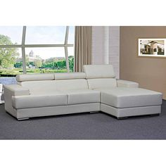 Creative Images International Carmen Right Facing Chaise and Sofa - White - SF6100_WHITE