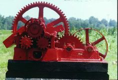This is a close up of the #45 Chattanooga Cane Mill.