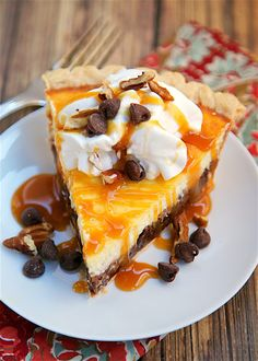 Turtle Cheesecake Pie Really nice recipes. Every hour. Show me  Mein Blog: Alles rund um die Themen Genuss & Geschmack  Kochen Backen Braten Vorspeisen Hauptgerichte und Desserts # Hashtag