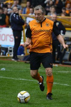 #RobertPlant playing soccer - Jody Craddock Testimonial - Wolverhampton Wanderers XI v Sunderland XI.   May 5, 2014 Wolverhampton, West Midlands, England, UK.