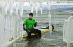 Courier Icicle Picture Bob Purdy Standing Up For The Planet SUP Radio