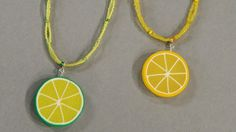 Add a fun and colorful splash of citrus to your wardrobe with this jewelry how-to from Etsy seller Jessica Partain.